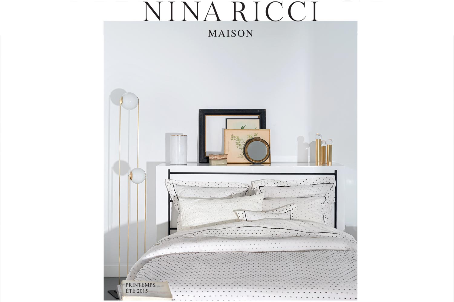 Catalogue Nina Ricci linge de maison, Printemps été 2015