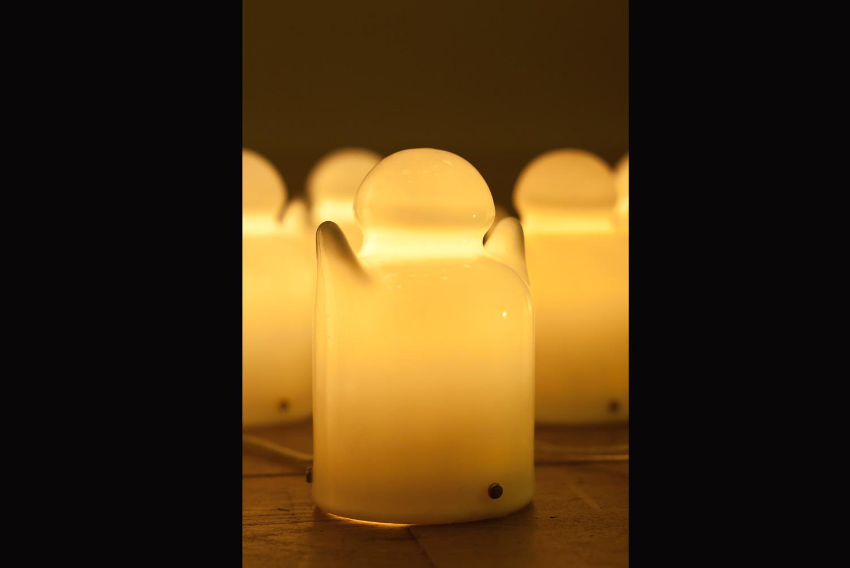 Lampe à poser. Porcelaine émaillée