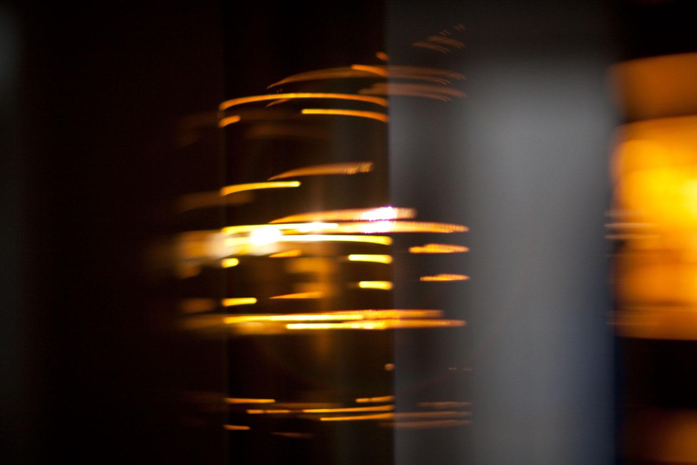 Détail lampadaire stries